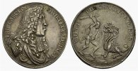 W&Uuml;RTTEMBERG Silbermedaille (Joh.Chr.M&uuml;ller) o.J.(1677) Gestopftes Loch, ... 280,00 EUR 