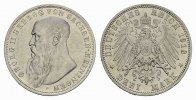REICHSSILBERMNZEN 3 Mark SACHSEN-MEININGEN Georg II., 1866-1914.