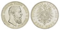 REICHSSILBERMNZEN 5 Mark PREUSSEN Friedrich III., 1888.