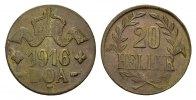 20 Heller 1916, T. DEUTSCHE KOLONIEN  Prägefrisch  250,00 EUR  Excl. 6,70 EUR Verzending