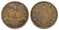 5 Heller 1909, J. DEUTSCHE KOLONIEN  Sehr schön -Vorzüglich  125,00 EUR  Excl. 6,70 EUR Verzending