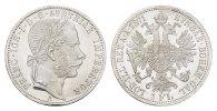 KAISERREICH ÖSTERREICH Gulden Franz Josef I., 1848-1916.