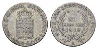 20 Kreuzer 1812, L. SACHSEN Ernst I., 1806-1826. Sehr schön+;  150,00 EUR  Excl. 6,70 EUR Verzending