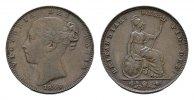 Farthing 1840. GROSSBRITANNIEN Victoria, 1837-1901. Vorzüglich-stempelg... 90,00 EUR  excl. 6,70 EUR verzending