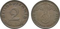 2 Reichspfennig 1937, G. DRITTES REICH  Vorzüglich +  10,00 EUR  Excl. 6,70 EUR Verzending