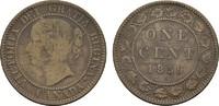 1 Cent 1859. KANADA Victoria, 1837-1901. L. Gewellt, Sehr schön.  15,00 EUR