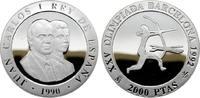 2.000 Pesetas 1990. SPANIEN Juan Carlos I., 1975-2014. Polierte Platte.  17,00 EUR