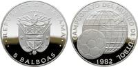 5 Balboas 1982. PANAMA Republik. Polierte Platte, gekapselt.  20,00 EUR  zzgl. 4,50 EUR Versand