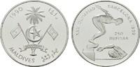 250 Rufiyaa 1990. MALEDIVEN Republik. Polierte Platte.  20,00 EUR  Excl. 6,70 EUR Verzending