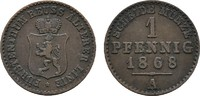 Ku.-Pfennig 1868, A. REUSS Heinrich XXII., 1859-1902. Sehr schön.  9,00 EUR