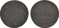 Ku.-2 Pfennig 1810. SACHSEN Ernst I., 1806-1826. Sehr schön.  20,00 EUR