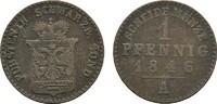 Ku.-Pfennig 1846, A. SCHWARZBURG Günther Friedrich Carl II., 1839-1880.... 6,00 EUR