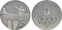 3.000 Forint 1999. UNGARN 2. Republik seit 1989. Polierte Platte.  30,00 EUR