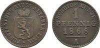 Ku.-Pfennig 1868 A REUSS Heinrich XXII., 1859-1902. Sehr schön  15,00 EUR