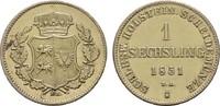 Sechsling 1850 SCHLESWIG-HOLSTEIN Statthalterschaft, 1848-1851. Vergold... 10,00 EUR  Excl. 6,70 EUR Verzending