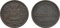 Ku.-1/4 Kreuzer 1860 SCHWARZBURG Günther Friedrich Carl II., 1839-1880.... 12,00 EUR