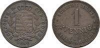 Ku.-Pfennig 1868. SACHSEN Ernst II., 1844-1893. Sehr schön +.  15,00 EUR  Excl. 6,70 EUR Verzending