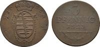 Ku.-3 Pfennig 1823. SACHSEN Ernst I., 1806-1826. Sehr schön-vorzüglich.  45,00 EUR  Excl. 6,70 EUR Verzending
