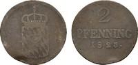 Ku.-2 Pfennig 1823. BAYERN Maximilian I. (IV.) Joseph, 1799-1806-1825. ... 20,00 EUR  Excl. 6,70 EUR Verzending