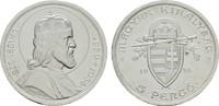 5 Pengö 1938. UNGARN Regentschaft des Reichsverwesers Miklós Horthy, 19... 22,00 EUR  Excl. 6,70 EUR Verzending