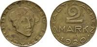 2 Mark 1920. RHEINPROVINZ  Etwas fleckig, sonst Vorzüglich.  10,00 EUR  excl. 6,70 EUR verzending