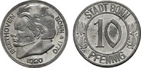 10 Pfennig 1920. RHEINPROVINZ  Kleine Fleckchen, Vorzüglich-Stempelglan... 8,00 EUR  Excl. 6,70 EUR Verzending