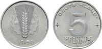 5 Pfennig 1950 A. DEUTSCHE DEMOKRATISCHE REPUBLIK, 1949-1990  Fast Stem... 50,00 EUR  zzgl. 4,50 EUR Versand