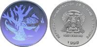 1000 Dobras 1998. ST. THOMAS Republik seit 1975. Polierte Platte  50,00 EUR  Excl. 6,70 EUR Verzending
