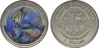 1 Dollar (farbig) 1996. LIBERIA Republik. Polierte Platte  9,00 EUR  Excl. 6,70 EUR Verzending