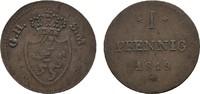 Ku.-Pfennig 1819 ohne Punkt HESSEN Ludwig I., 1806-1830. Sehr schön  7,00 EUR  Excl. 6,70 EUR Verzending