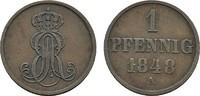 Ku.-Pfennig 1848 A HANNOVER Ernst August, 1837-1851. Sehr schön  8,00 EUR  Excl. 6,70 EUR Verzending
