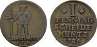 Ku.-Pfennig 1726 EPH BRAUNSCHWEIG UND LÜNEBURG August Wilhelm, 1714-173... 10,00 EUR  Excl. 6,70 EUR Verzending