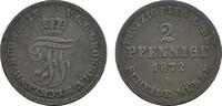 Ku.-2 Pfennig 1872 B MECKLENBURG Friedrich Franz II., 1842-1883. Sehr s... 5,00 EUR  zzgl. 4,50 EUR Versand