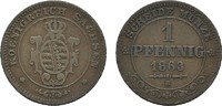 Ku.-Pfennig 1863 B SACHSEN Johann, 1854-1873. Sehr schön  8,00 EUR  Excl. 6,70 EUR Verzending