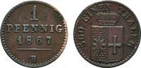 Ku.-Pfennig 1867 B WALDECK Georg Victor, 1852-1893. Vorzüglich  8,00 EUR  Excl. 6,70 EUR Verzending