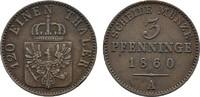 Ku.-3 Pfennig 1860 A BRANDENBURG-PREUSSEN Friedrich Wilhelm IV., 1840-1... 10,00 EUR  Excl. 6,70 EUR Verzending