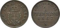 Ku.-Pfennig 1867 B BRANDENBURG-PREUSSEN Wilhelm I., 1861-1888. Sehr sch... 4,00 EUR  Excl. 6,70 EUR Verzending