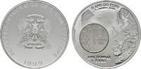 2000 Dobras - 1 Euro 1999. ST. THOMAS Republik seit 1975. Stempelglanz  22,00 EUR  Excl. 6,70 EUR Verzending