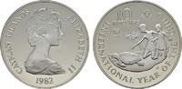 10 Dollars 1982. CAYMAN ISLANDS Elizabeth II. seit 1952. Polierte Platte  22,00 EUR  Excl. 6,70 EUR Verzending