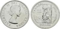 1 Dollar 1958 KANADA Elizabeth II. seit 1952. Stempelglanz  22,00 EUR  Excl. 6,70 EUR Verzending