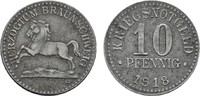 10 Pfennig 1918. BRAUNSCHWEIG  Etwas fleckig, Fast vorzüglich.  4,00 EUR  Excl. 6,70 EUR Verzending