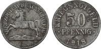 50 Pfennig 1918. BRAUNSCHWEIG  Flecken. Sehr schön +.  8,00 EUR  Excl. 6,70 EUR Verzending