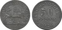 50 Pfennig 1920. BRAUNSCHWEIG Staatsbank Leicht korrodiert. Vorzüglich ... 10,00 EUR  Excl. 6,70 EUR Verzending