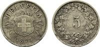 5 Rappen 1873 B. SCHWEIZ  Sehr schön +  20,00 EUR  Excl. 6,70 EUR Verzending