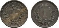 1 Rappen 1911 B. SCHWEIZ  Vorzüglich +  15,00 EUR  Excl. 6,70 EUR Verzending