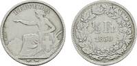 1/2 Franken 1850 A. SCHWEIZ  Sehr schön +  80,00 EUR  Excl. 6,70 EUR Verzending