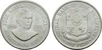 1 Peso 1961. PHILIPPINEN Republik seit 1946. Stempelglanz -  16,00 EUR  Excl. 6,70 EUR Verzending
