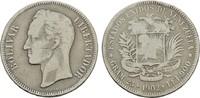 5 Bolivares 1902. VENEZUELA Republik. Min.Rdf. Sehr schön -.  28,00 EUR  Excl. 6,70 EUR Verzending