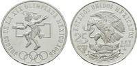 25 Pesos 1968. MEXIKO Republik. Kl.Kratzer. Stempelglanz  12,00 EUR  plus 6,70 EUR verzending