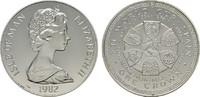 Crown 1982. GROSSBRITANNIEN Elizabeth II seit 1952. Fleckig, Polierte P... 18,00 EUR  plus 6,70 EUR verzending